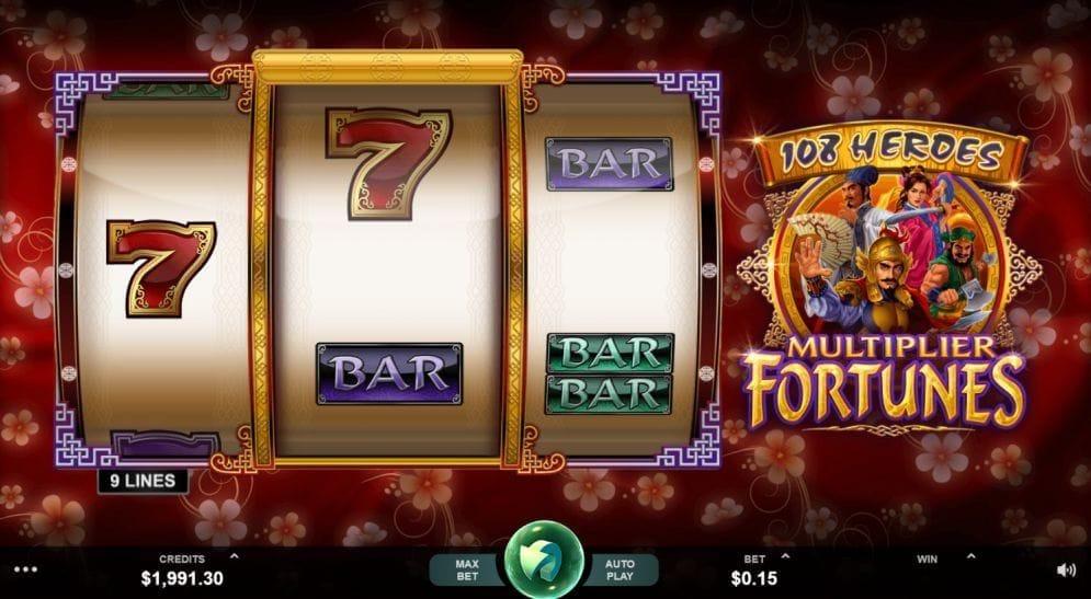 108 Heroes Multiplier Fortunes online Automatenspiel