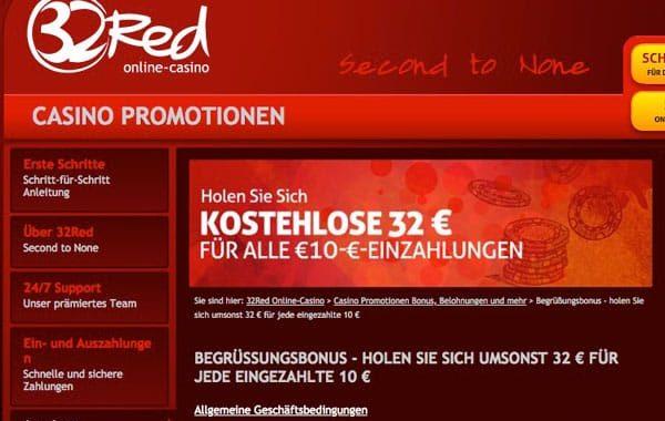 32red Casino auf Deutsch