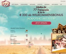 77 Freispiele & bis zu 200€ Willkommensbonus