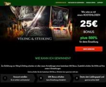25€ No Deposit und 500% Bonus