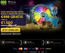 88€ Gratis + bis zu 300€ auf 1. Einzahlung und extra 50 Free Spins mit Bonus Code: 888LOVE