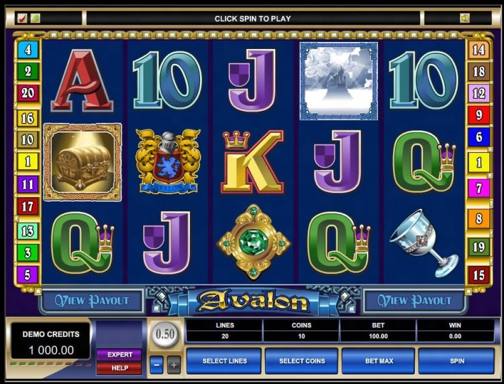 Avalon online Video Slot