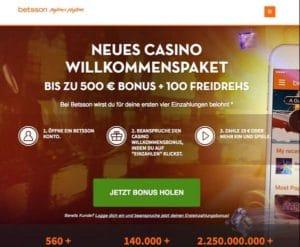 Betsson Casino im Test