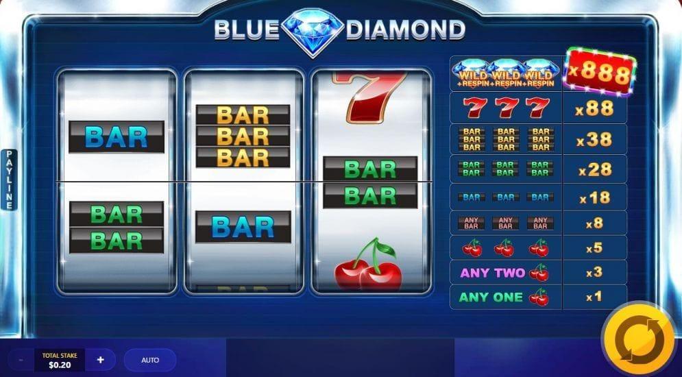 Blue Diamond online Video Slot