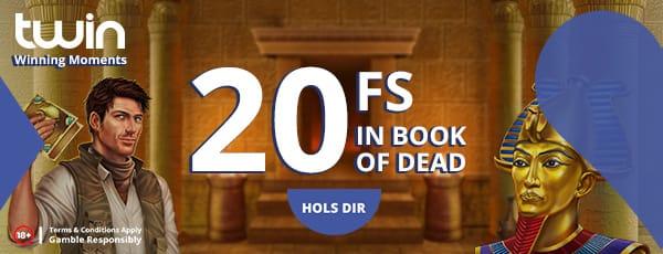 20 Freispiele für Book of Dead bei Twin