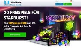 Starburst Spins gratis in Casino Room