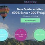 200 Freispiele für Starburst in Dunder