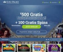 500€ Bonus und 100 FREISPIELE