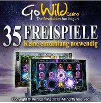 35 Freispiele in Go Wild