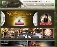 100% Einzahlungs Bonus, bis zu €100 gratis Bonus & a sleeve of Fairway Casino golf balls