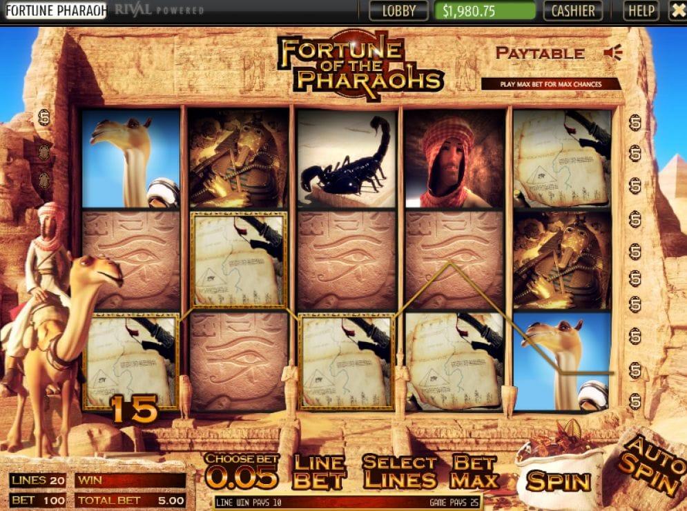 Fortune of the Pharaohs online Video Slot
