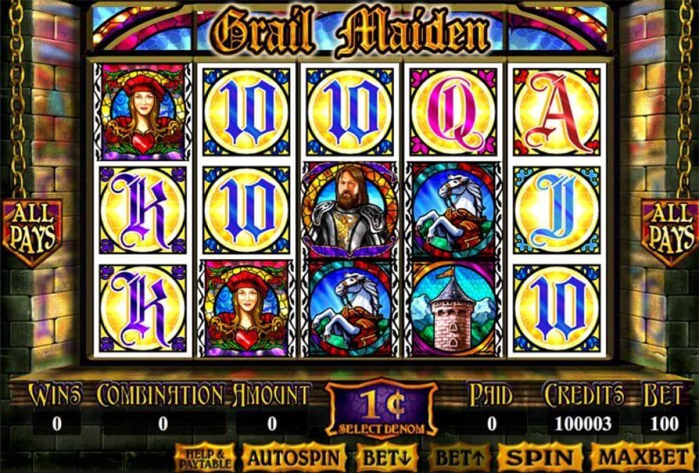 Grail Maiden online Casinospiel