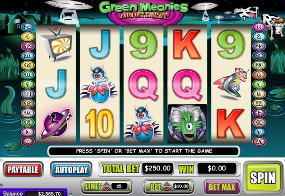 Green Meanies from Outta Space online Videoslot