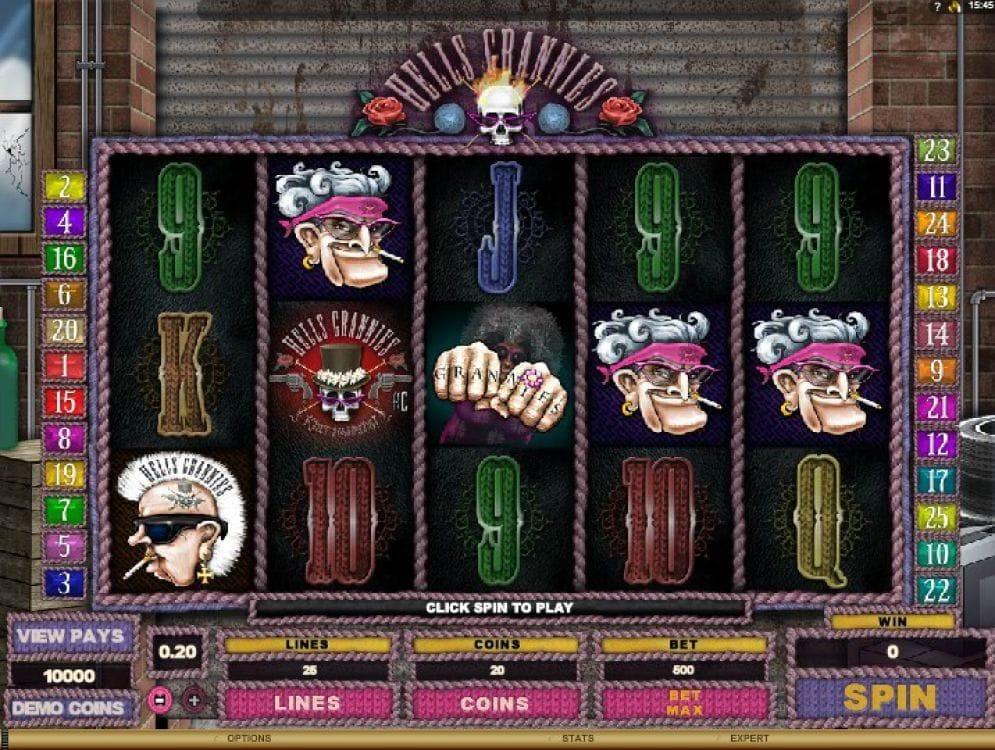 Hells Grannies Casino Spiel