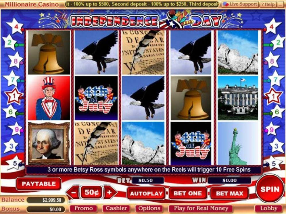 Independence Day Video Slot