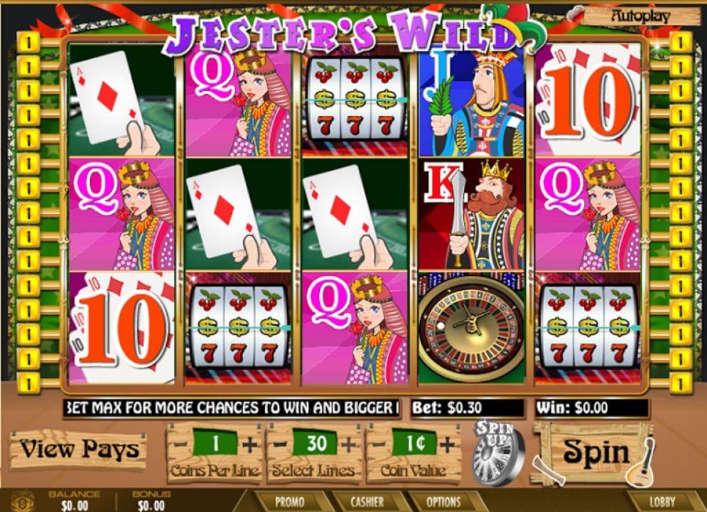 Jester's Wild Casino Spiel
