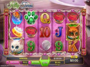 Kitty Twins Automatenspiel online spielen