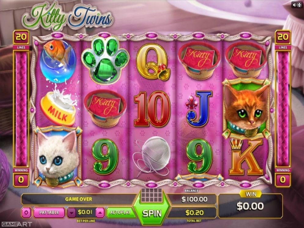 Kitty Twins online Spielautomat