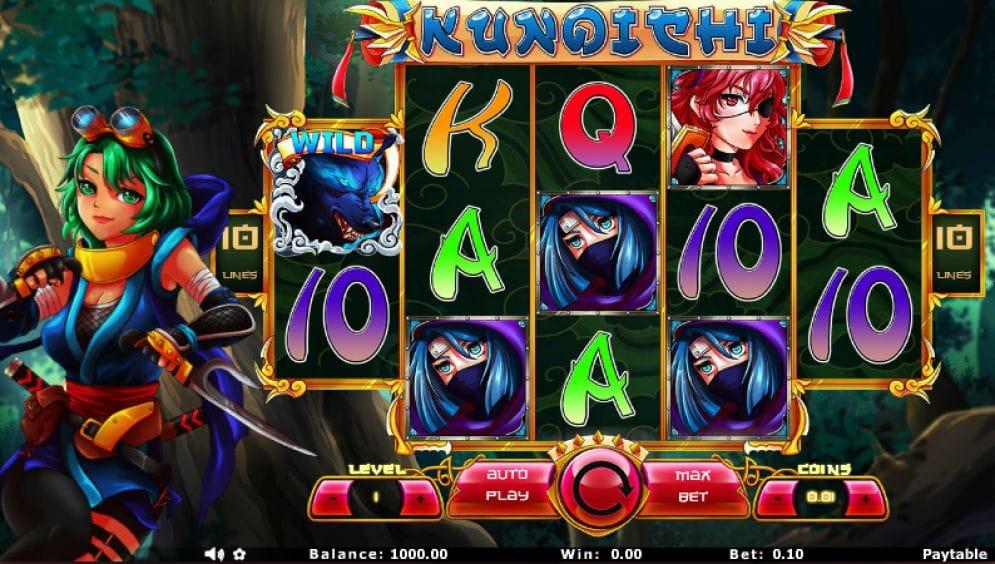 Kunoichi online Slotmaschine