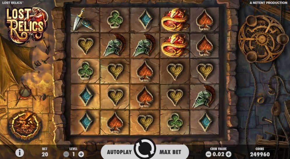 Lost Relics online Spielautomat