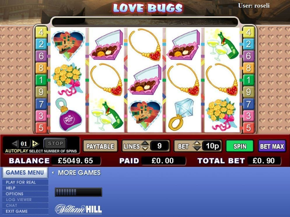 Love Bugs online Spielautomat