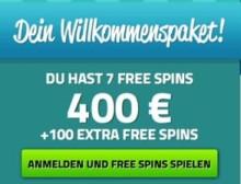 7 Gratis Spins + 100% bis zu 200€ + 50 gratis Spins