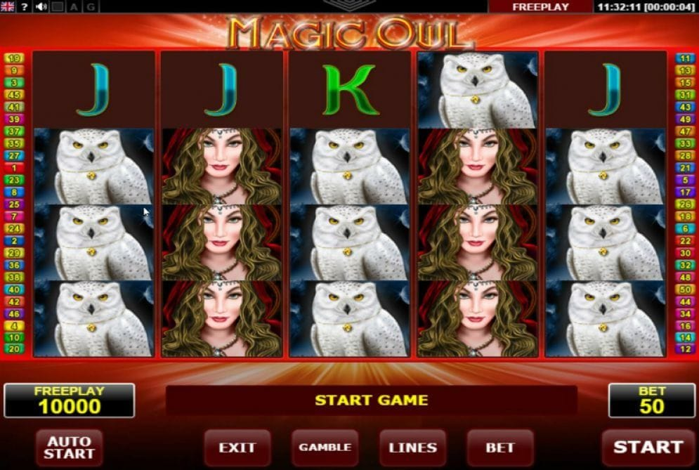 Magic Owl online Slotmaschine