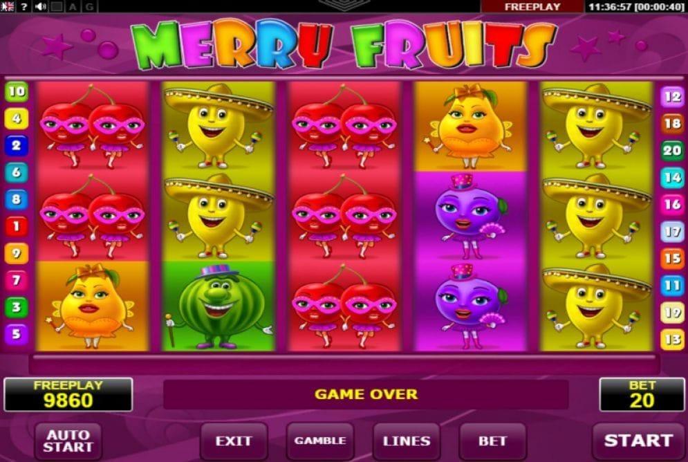 Merry Fruits Videoslot