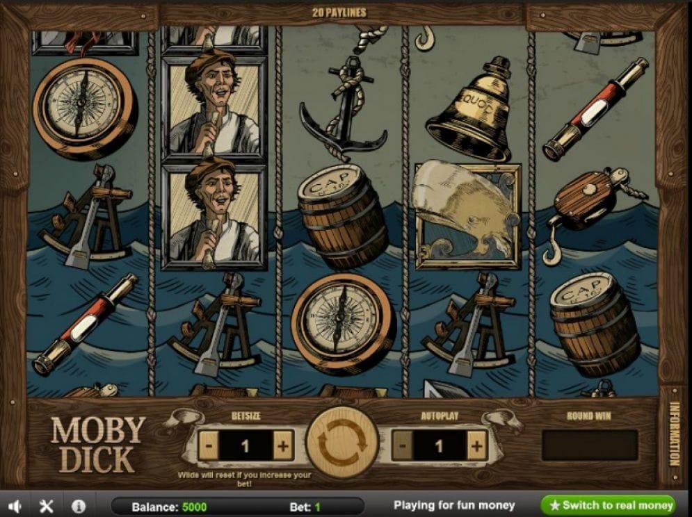 Moby Dick online Casino Spiel