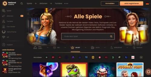 National Casino - online Casino mit Startguthaben