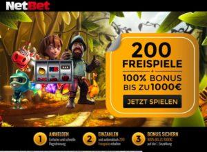 NetBet Casino Übersicht – wie bekommt man 200 Freispiele?
