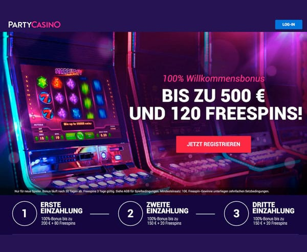 Party Casino Willkommensbonus