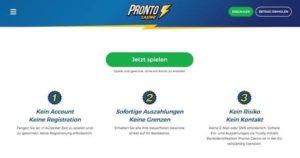 Pronto Casino – Echtgeld Casino Spiele ohne Registrierung