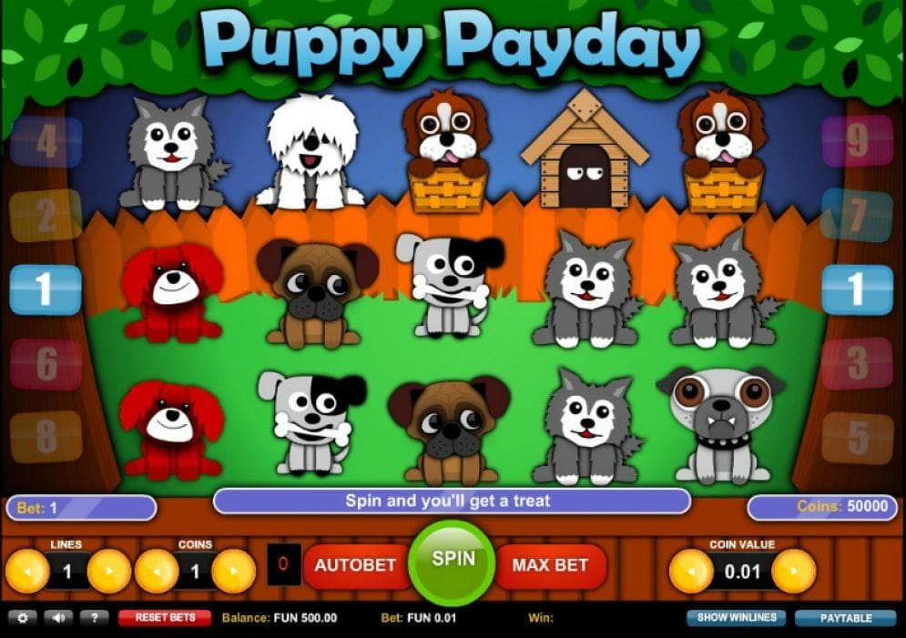 Puppy Payday online Slotmaschine