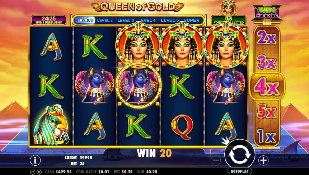 Queen of Gold online Casinospiel