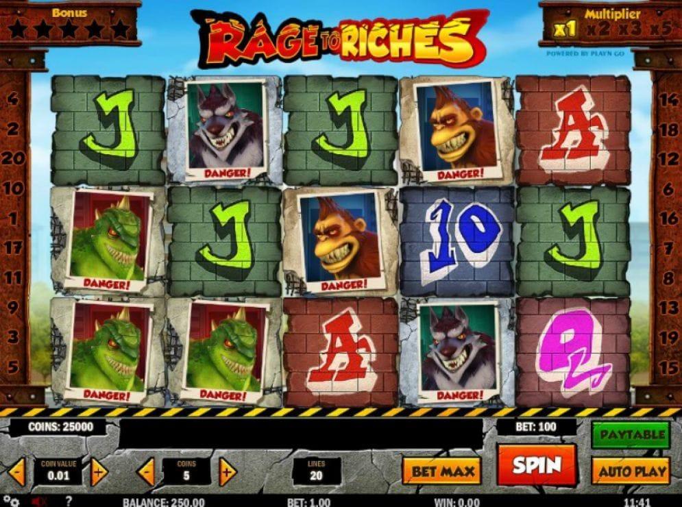 Rage To Riches Slotmaschine