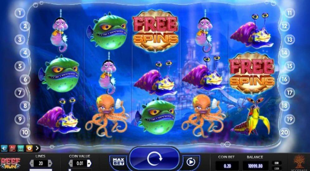 Reef Run online Casinospiel