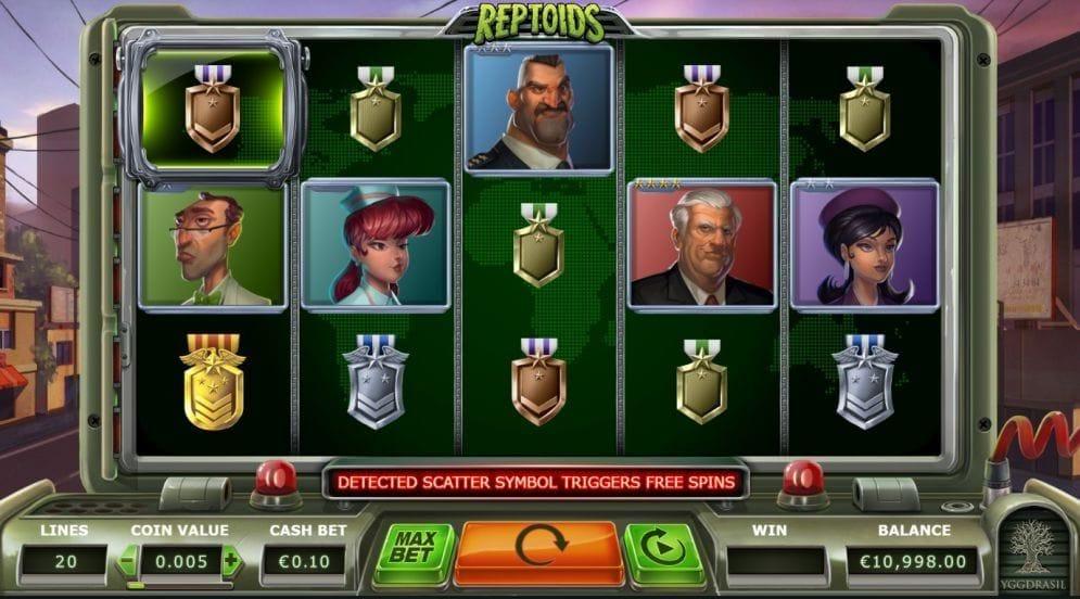 Reptoids online Casino Spiel