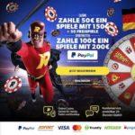Rizk Casino bietet PayPal in Deutschland für Casino und Sportwetten