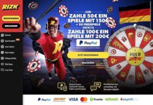 Rizk Casino – ab jetzt mit PayPal!