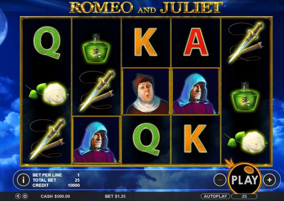 Romeo and Juliet online Slotmaschine