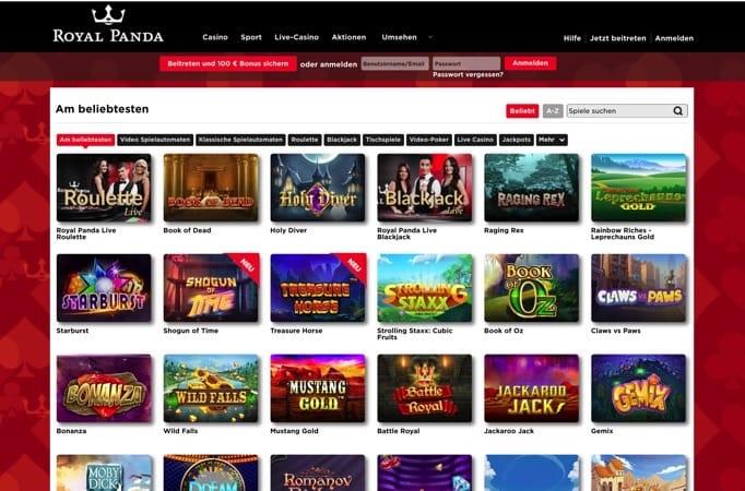 Royal Panda Casino – Boni, Spiele und Zahlungen