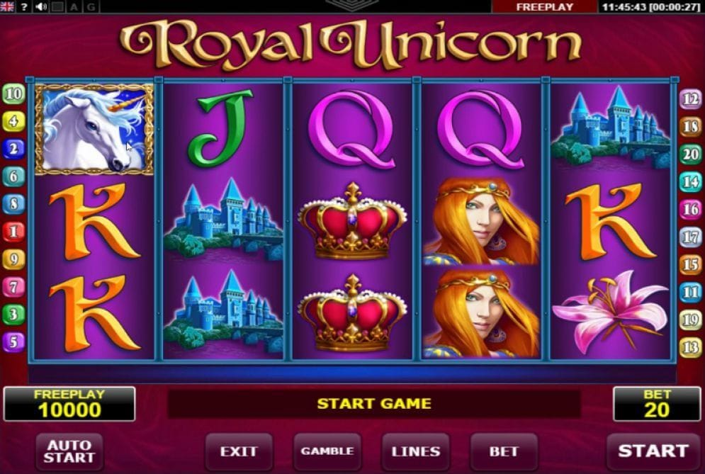 Royal Unicorn online Spielautomat