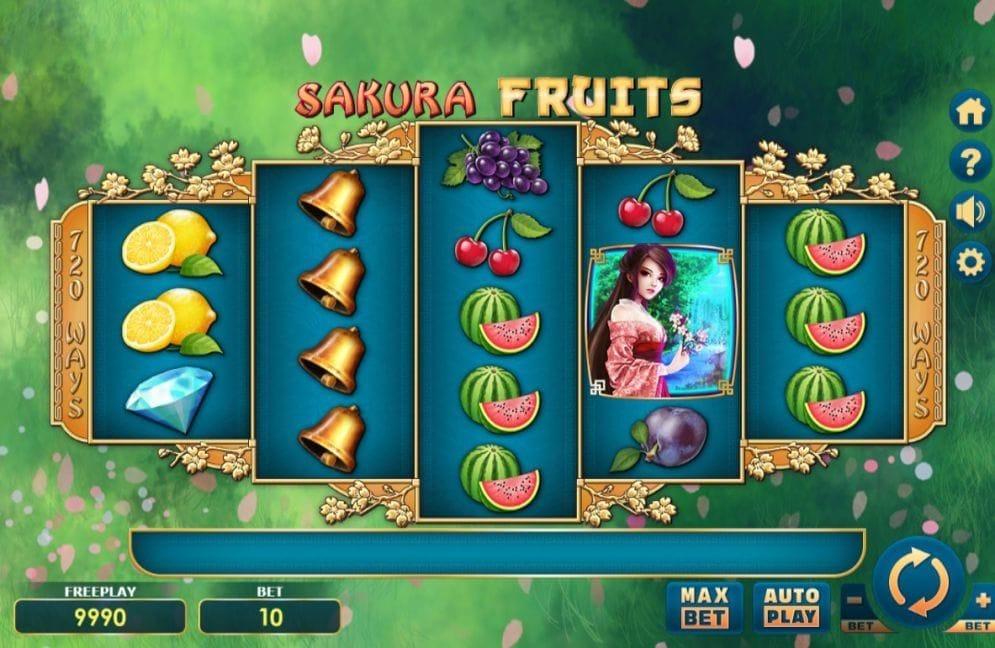 Sakura Fruits online Geldspielautomat