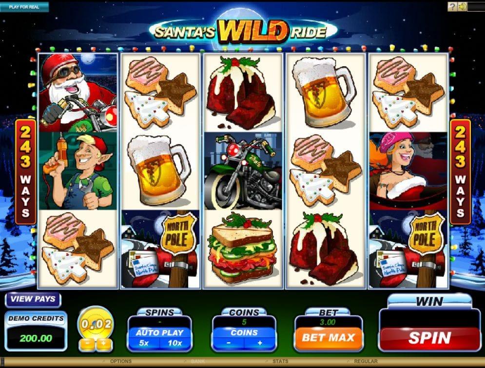 Santa's Wild Ride Automatenspiel