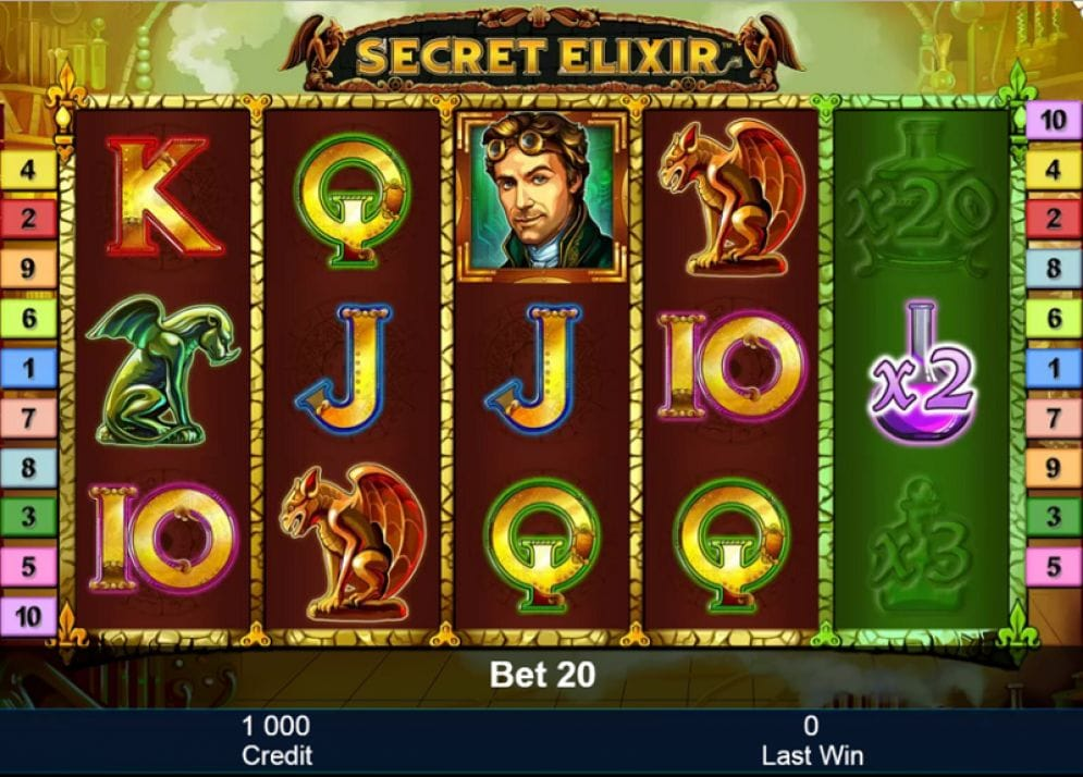Secret Elixir Video Slot
