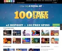 100% bis zu 100€ + 20 Freispiele für Gonzo's Quest, 20 für Twin Spin, 20 für Jack and the Beanstalk, 20 für Fruit Shop