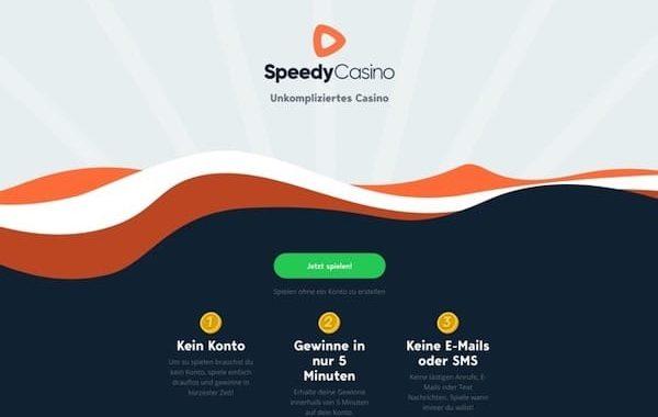 In Speedy Casino ohne Registrierung spielen