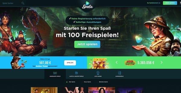 Spela – online Casino ohne Registrierung