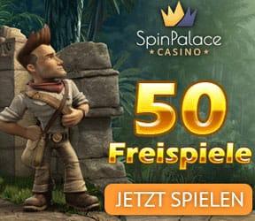 50 Freispiele kostenlos in Spin Palace